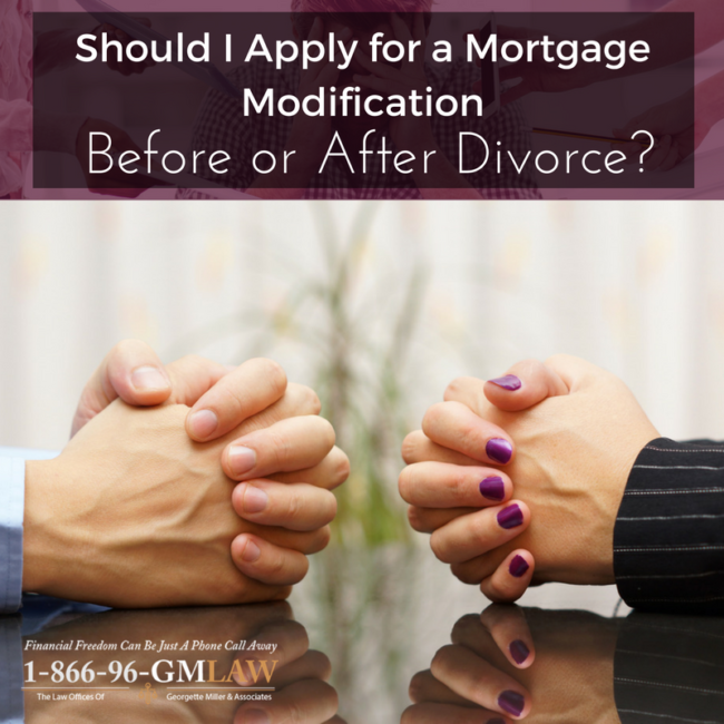 Should I Apply for a Mortgage Modification Before or After Divorce